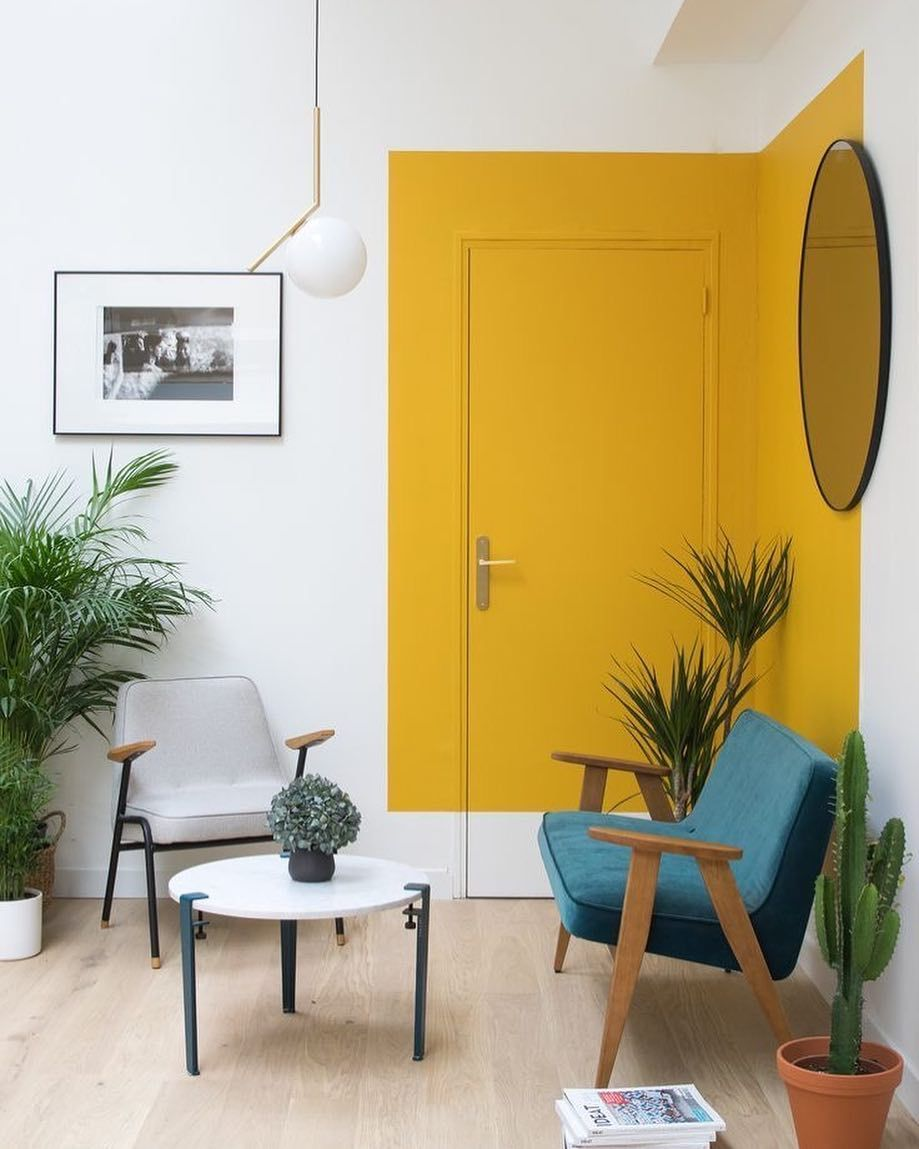 Totally cool use of colour interiors colourblock yellowinterior the tedfew wherehomebegins also rh pinterest