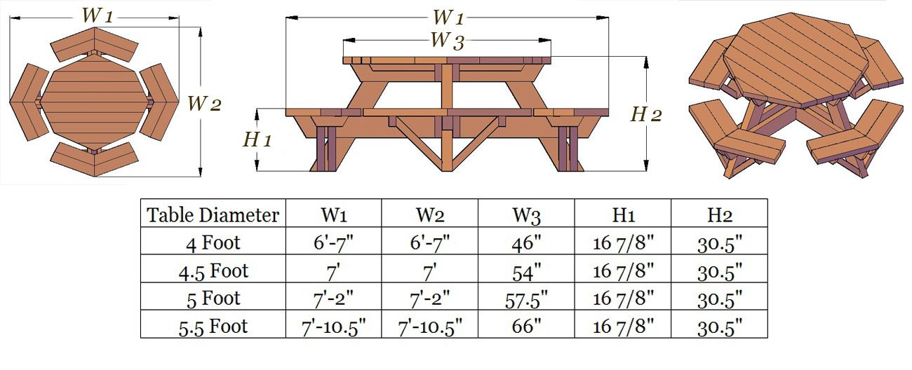 Picnic Table Plans Ft