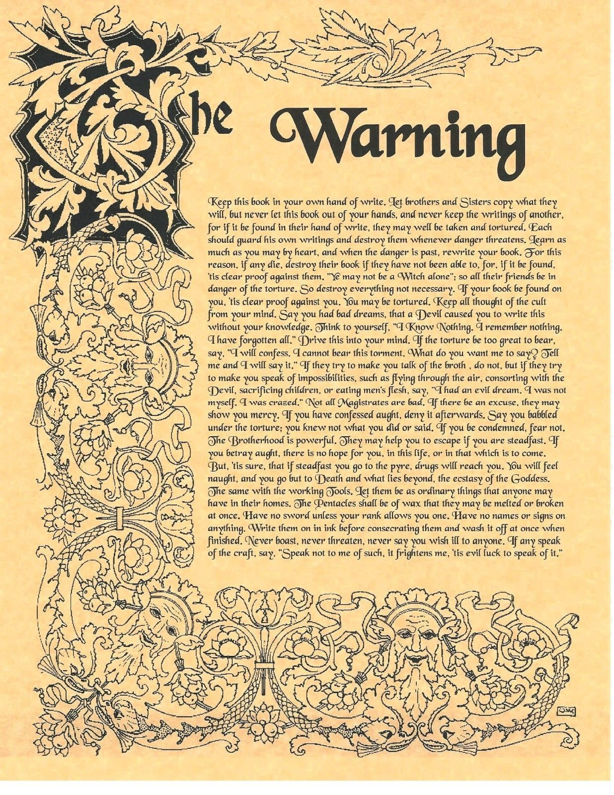 Book Of Shadows Spell Pages Warning About Wicca Wicca Witchcraft Bos Witch Spell Book Book Of Shadows Witchcraft Books