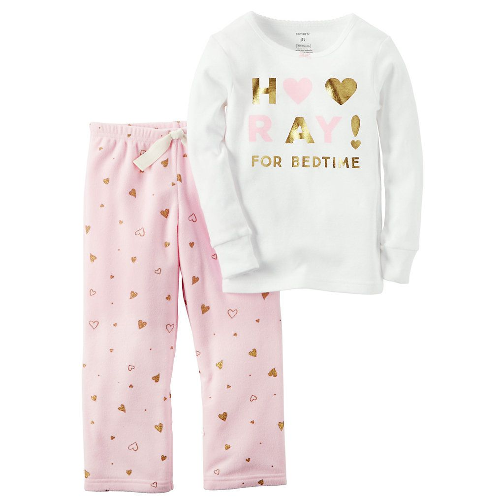 Baby Girl Carter s Graphic Tee   Fleece Pants Pajama Set  315dd20ff