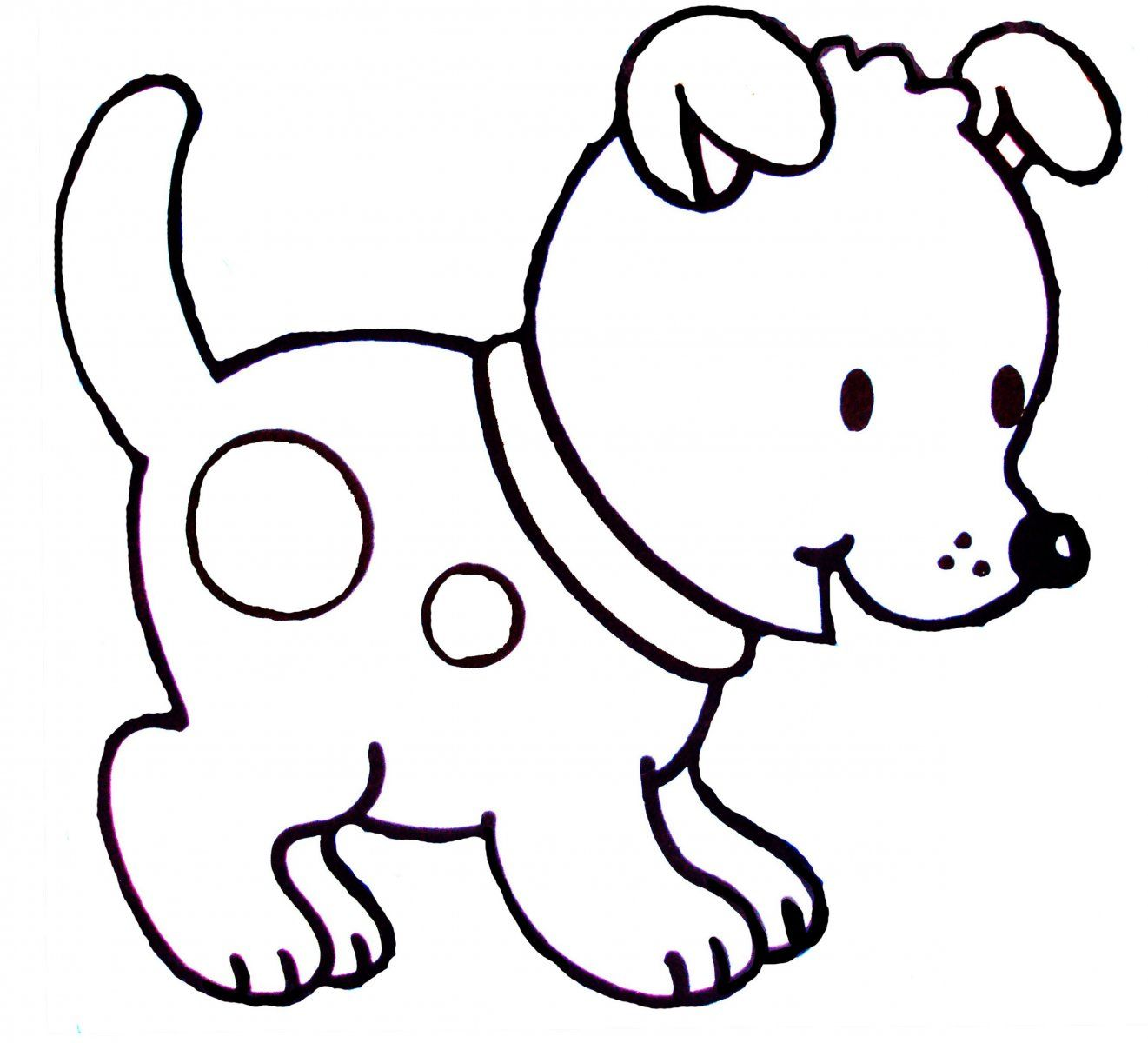 Dibujos de perros para colorear | Dibujos animales | Dibujos de