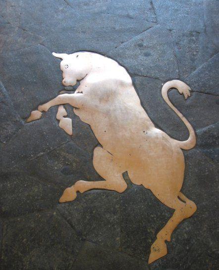 "Piazza San Carlo "" toro portafortuna "" pavimento dei"