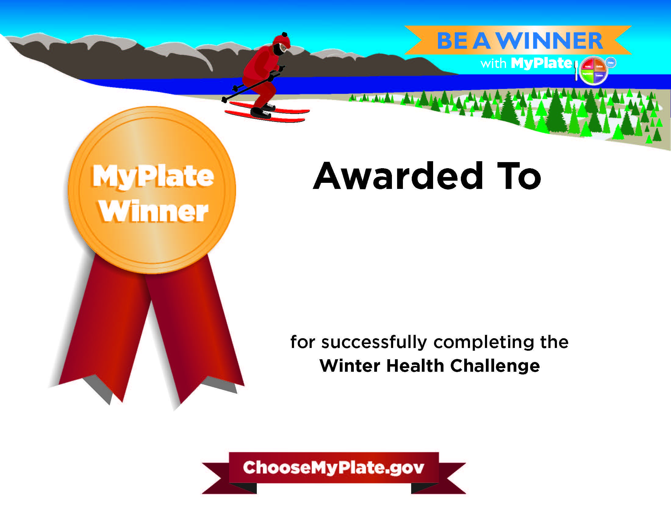 Create a personalized certificate after you complete the