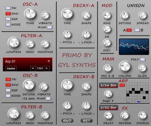 GyL Synths releases Primo free VST synth | music_vst