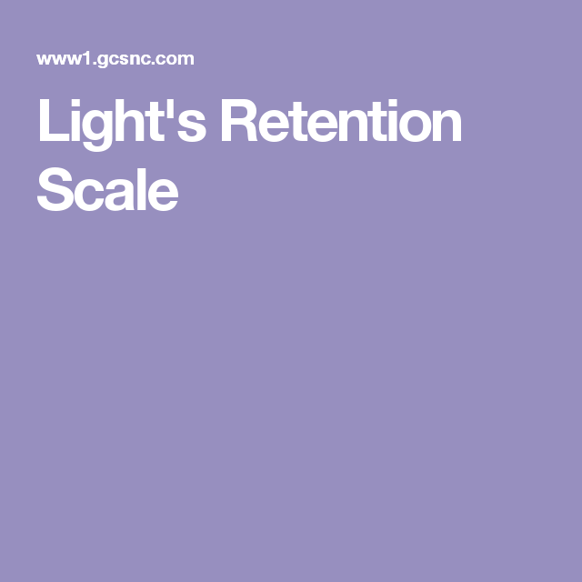 Light S Retention Scale Special Education Education Lights