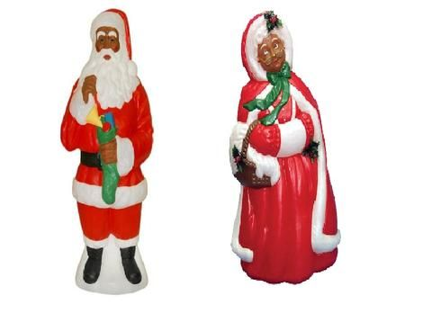 mr mrs santa claus outdoorindoor light up yard christmas decoration plastic blow mold