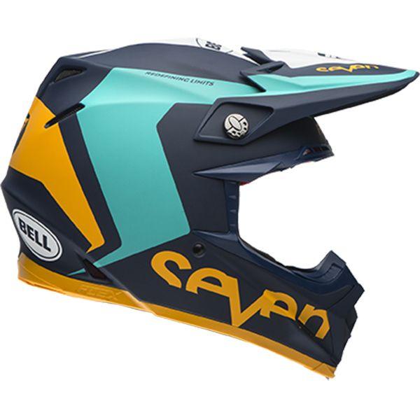 Bell 2017 Moto 9 Flex Seven Rogue Navy Aqua Helmet Bike Helmet Motocross Helmets Helmet