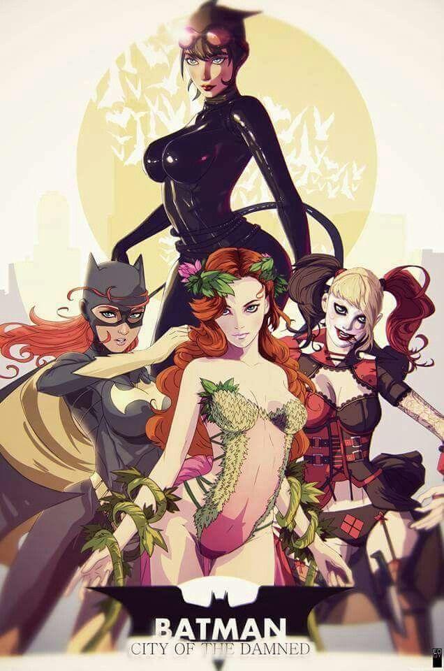Gotham City Sirens And Batgirl Batman Fan Art Batman City Gotham