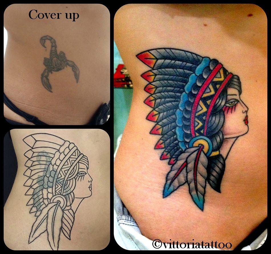 Tattoo old school tatuaggi old school pin up significato e foto quotes - Cover Up Old School Indian Girl Tattoo Studio Tatuaggi Vittoriatattoo Via Alessandro Volta 49 Como Www