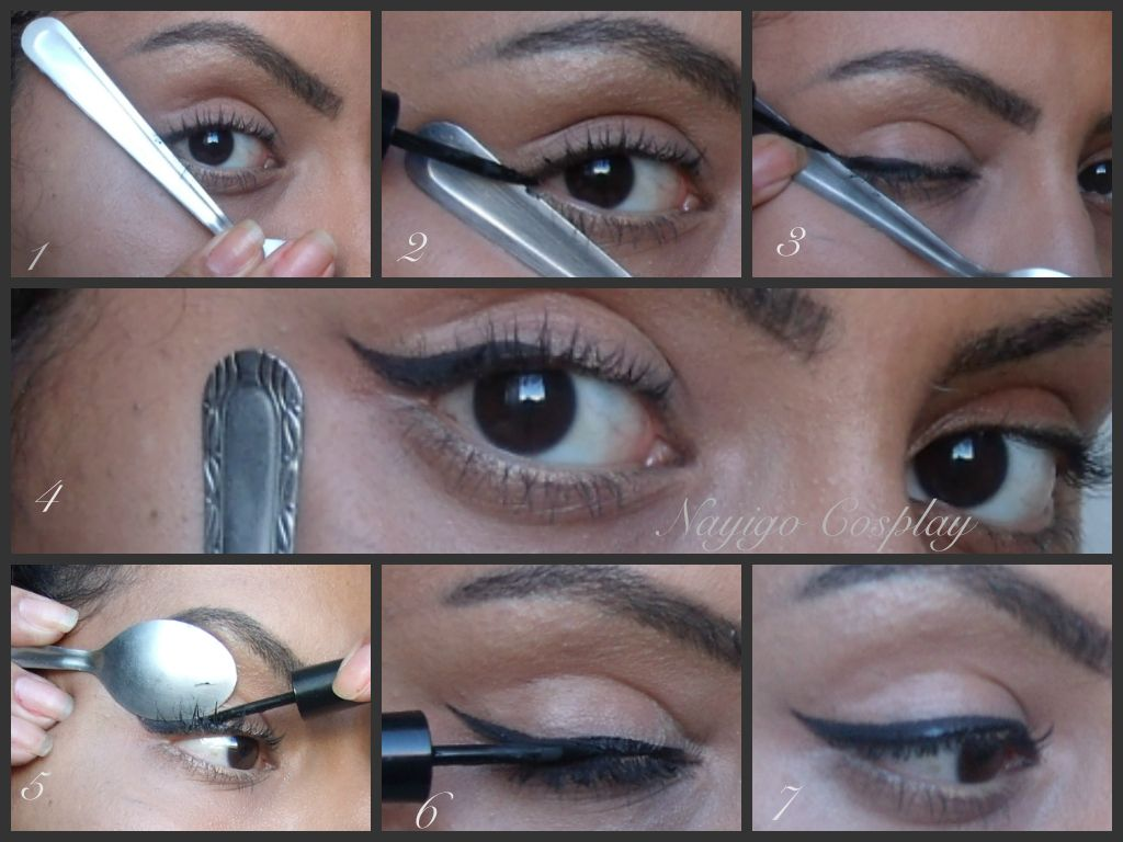 Eyeliner with a spoon!  Eyeliner tutorial, Perfect eyeliner, Eyeliner