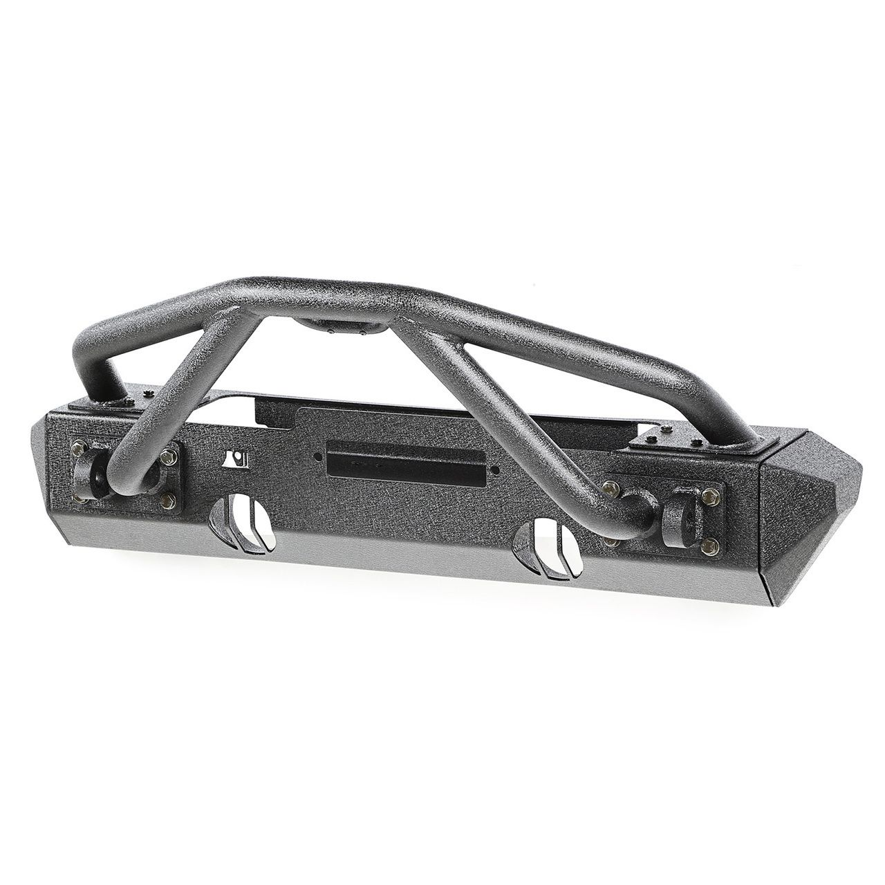 This xhd front bumper kit from rugged ridge fits jeep wrangler includes xhd front winch bumper double x striker bar and stubby bumper ends