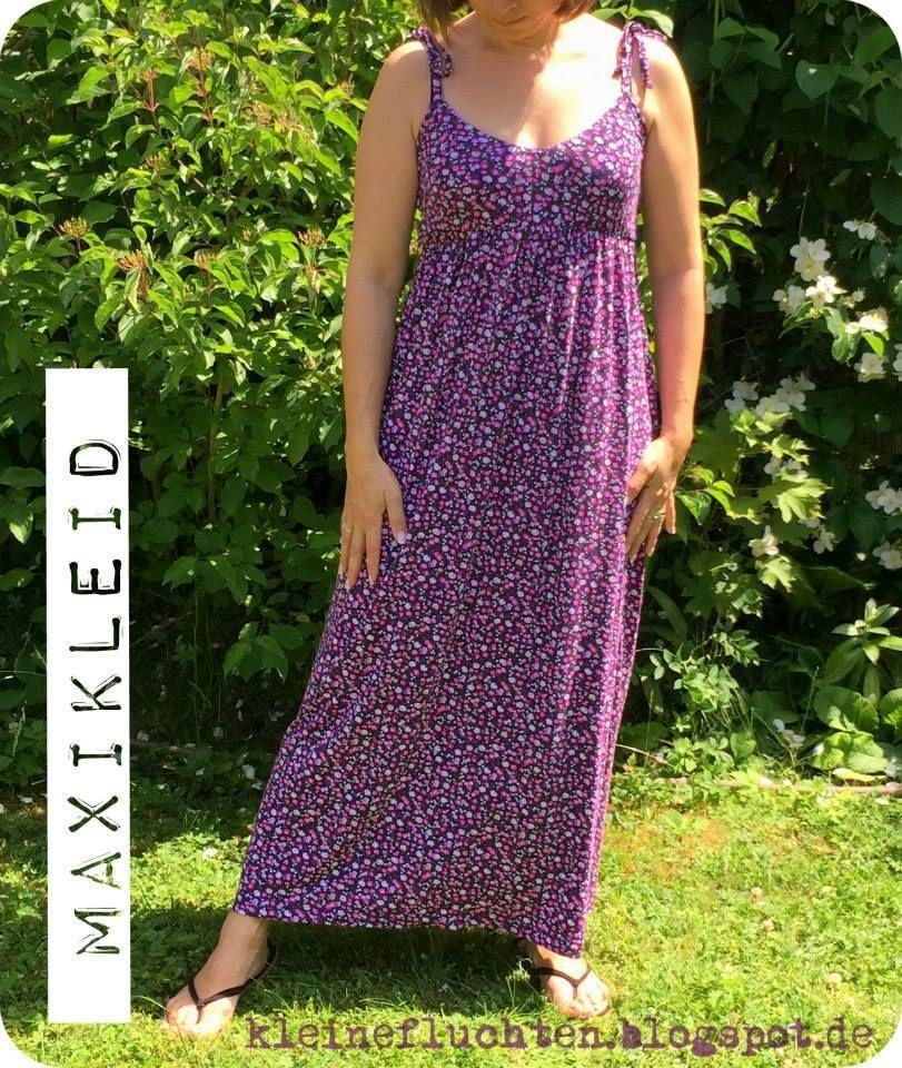 Ebook / Schnittmuster lillesol women No.8 Maxikleid | Nähen ...