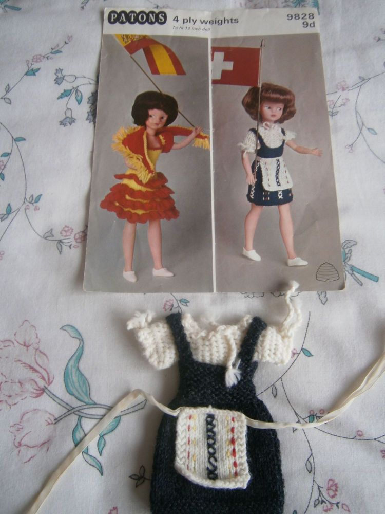 Sindy Knitting Pattern By Patons 1960s And Hand Knitted Sindy Swiss