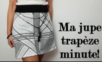 diy couture facile comment coudre une jupe trap ze sans patron couture tuto cout. Black Bedroom Furniture Sets. Home Design Ideas