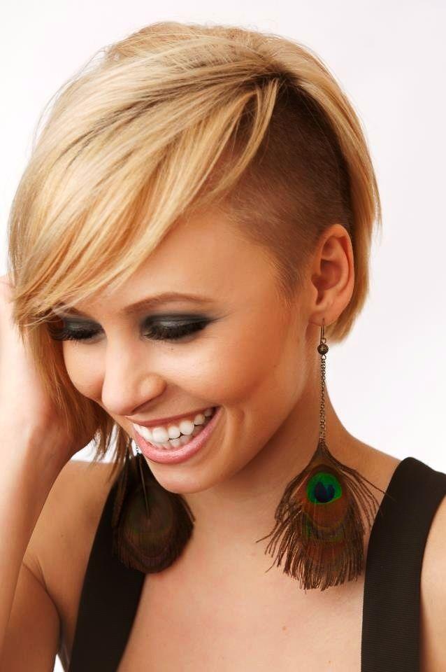 20 Half Shaved Hairstyles For Women Shorter Hair Pinterest