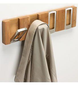 Rectangle Flip Hook Coat Rack Bamboo Wall Hooks Racks Closet Hanger Design Coat Rack Wall Rack Design