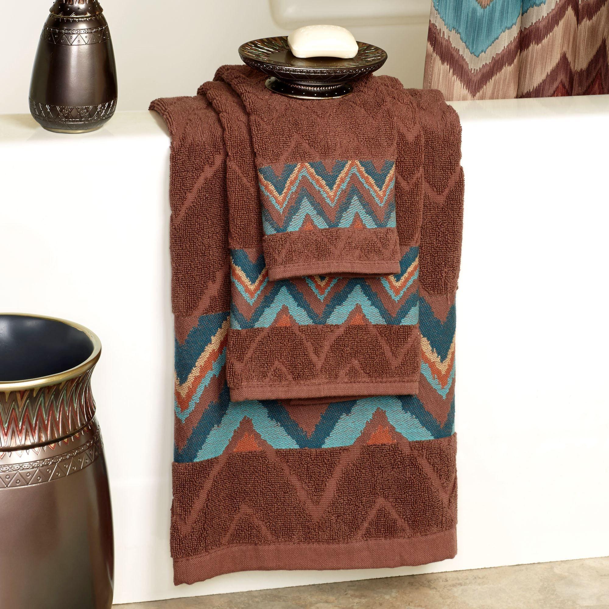 Sierra Southwest Chevron Bath Towel Set Bath Towel Sets Bath Towels Western Bathrooms