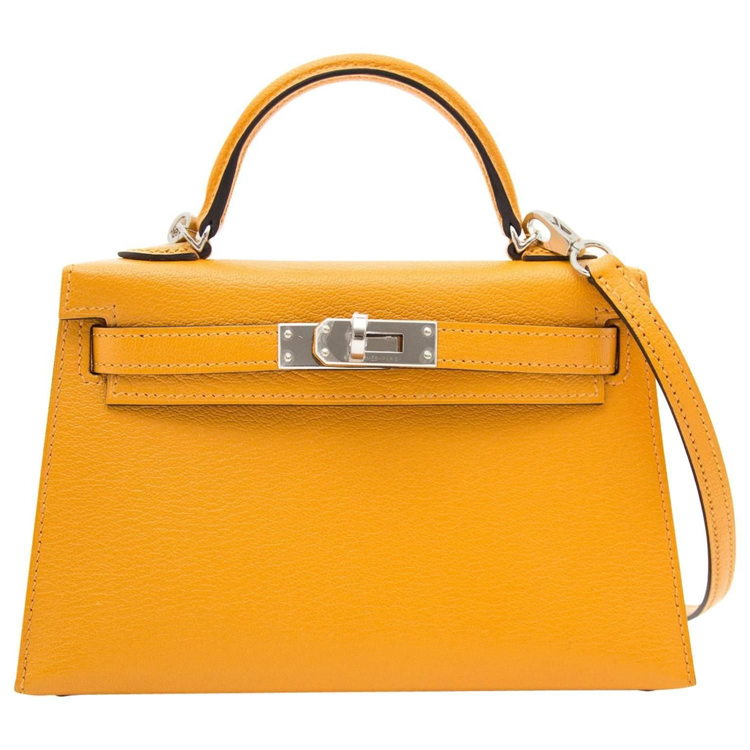 Brand New Hermes Mini Kelly 20 Moutarde  7ccc6ac9364d5