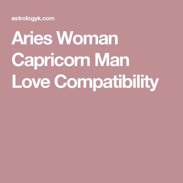 aries woman capricorn man compatibility