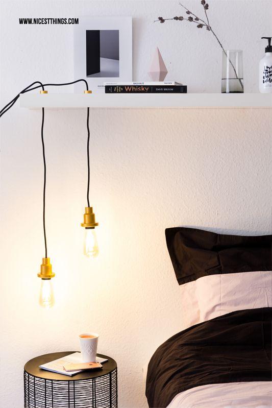 Simple DIY Lampe selber machen H ngelampe mit Vintage Gl hbirne
