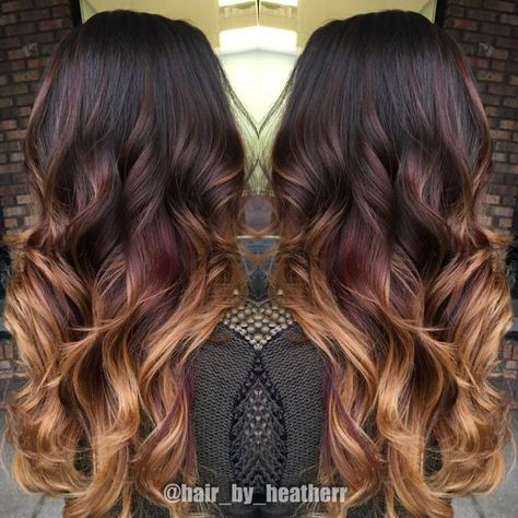 64 Fall Hair Color For Brunettes Balayage Brown Caramel Styles #copperbalayage