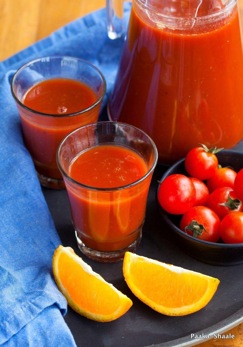 Spicy Tomato & Orange Smoothie
