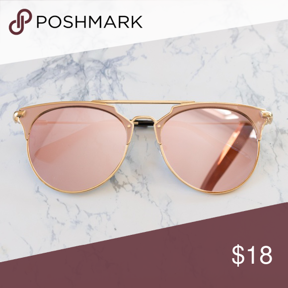 dab098d7a08f Spotted while shopping on Poshmark  Rose Gold Retro  sunglasses Mirrored  Lens!  poshmark  fashion  shopping  style  Ooh La Lou  Accessories