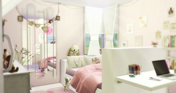 Caeley Sims: Girly Room U2022 Sims 4 Downloads