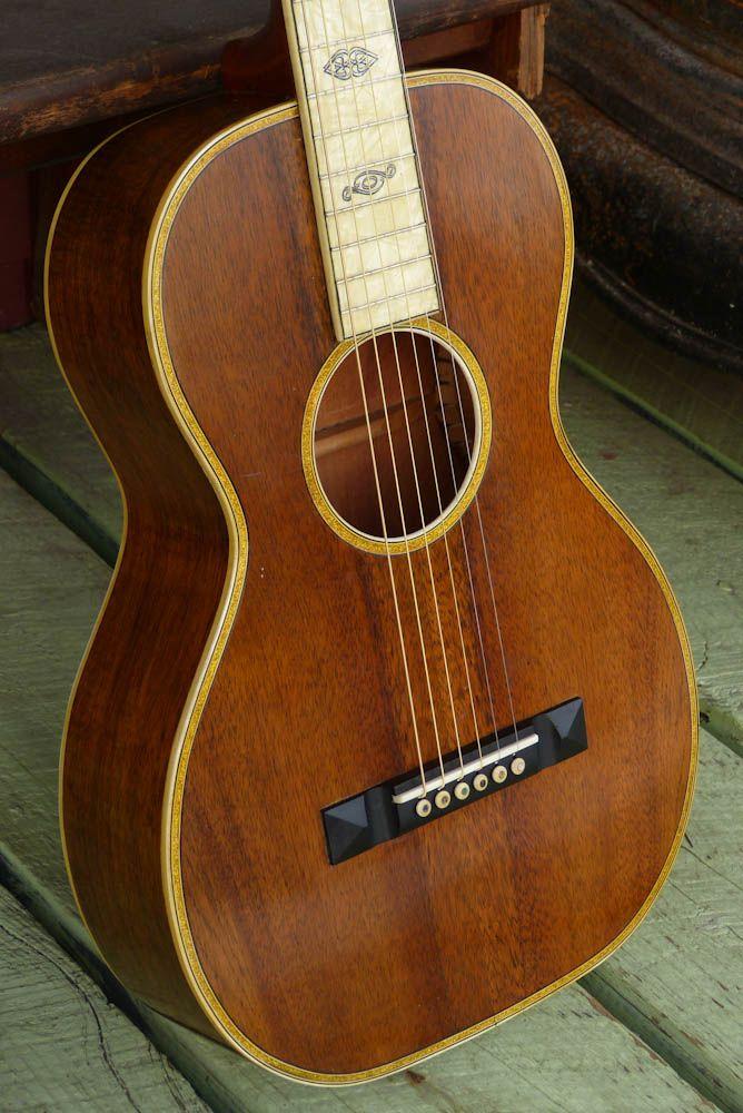Oscar Schmidt Sovereign Koa Parlor Guitar C1925 Theres Not Much