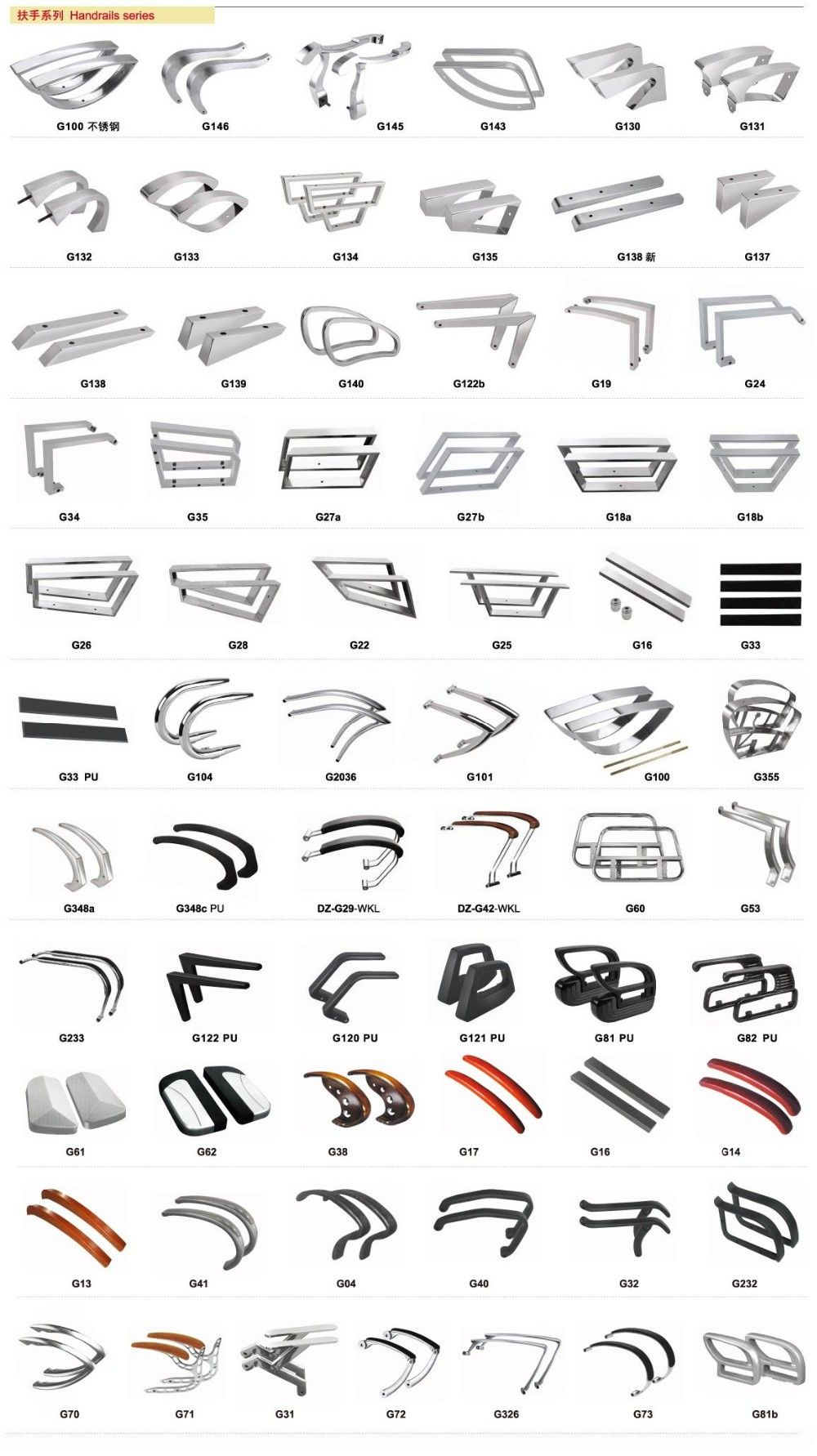 Barber chair accessories Salon chair armrest Stainless Steel or PU