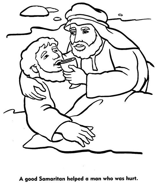 good samaritan color pages | Bible: Jesus and His Parables ...