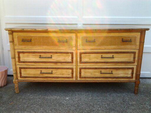 $250 Vintage Faux Bamboo Dresser   Bamboo furniture, Retro ...