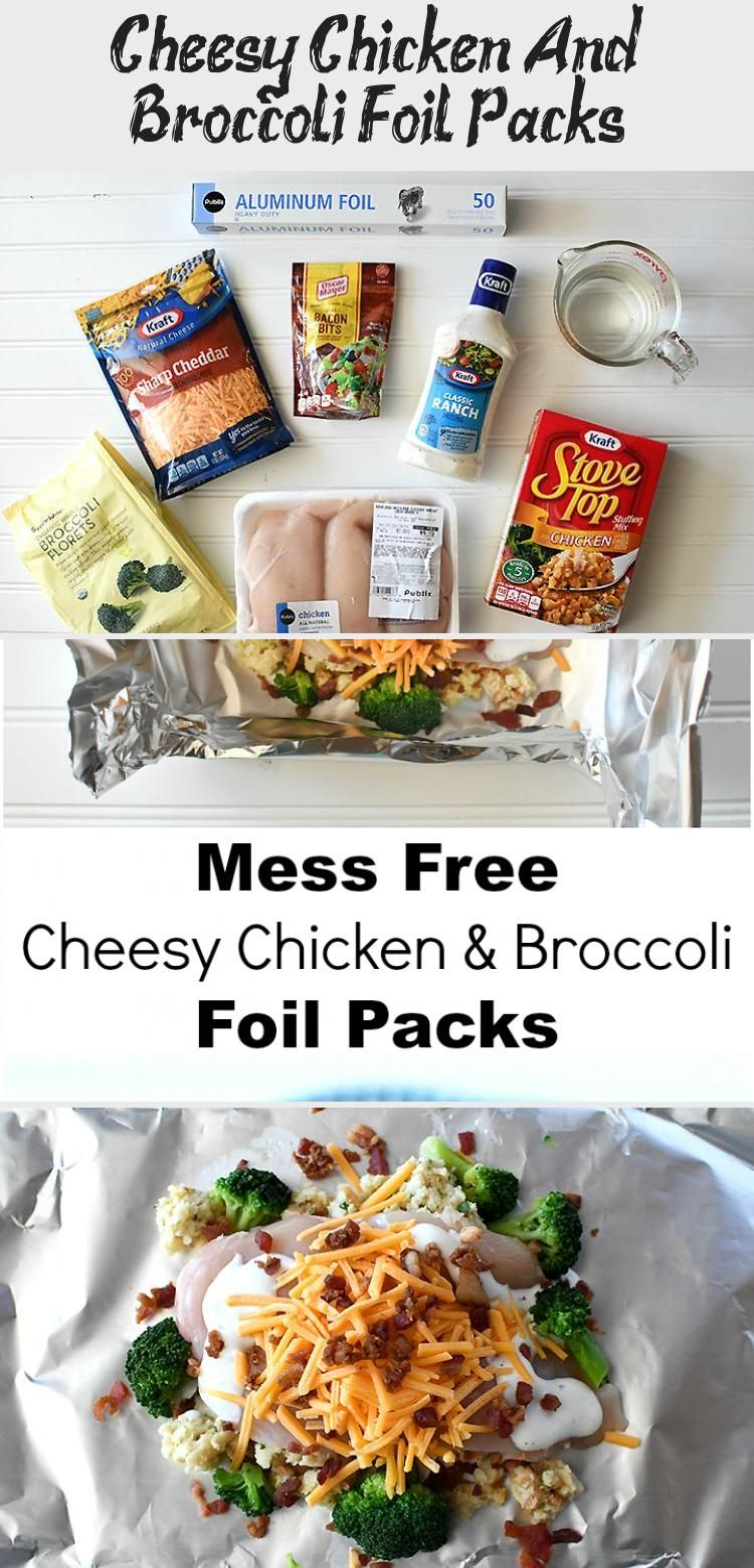 Cheesy Chicken And Broccoli Foil Packs – Recipes