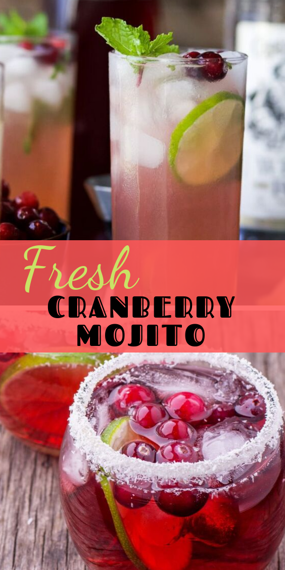 Fresh Cranberry Mojito #mintdrink