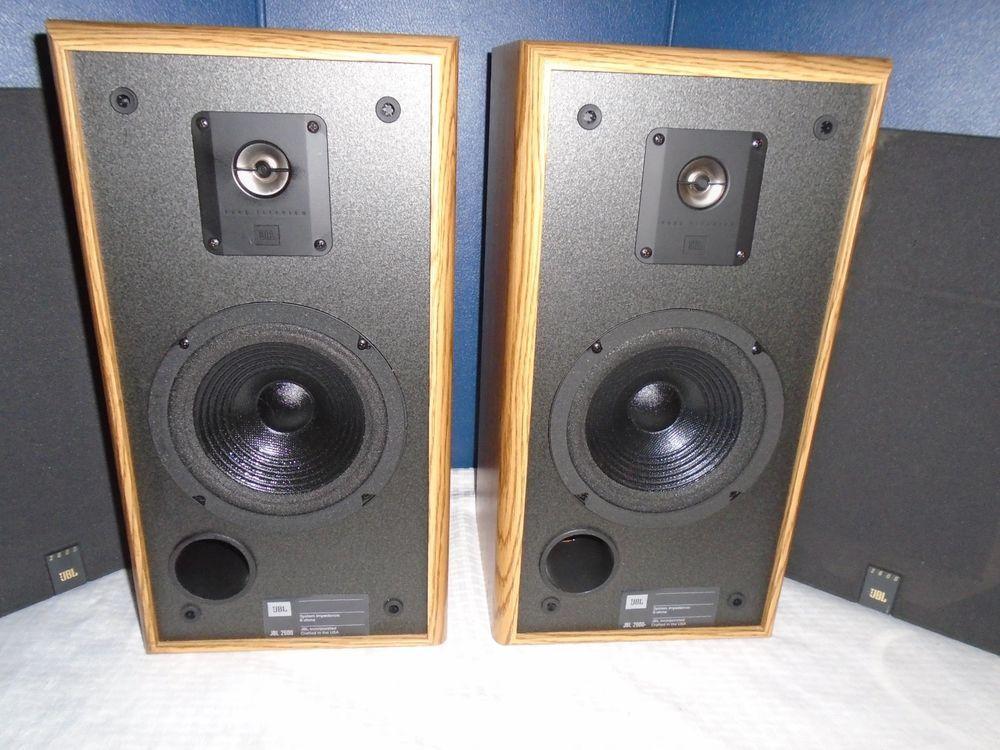 Details about Lot of 2, JBL 2600 Oak Wood Finish 6 5