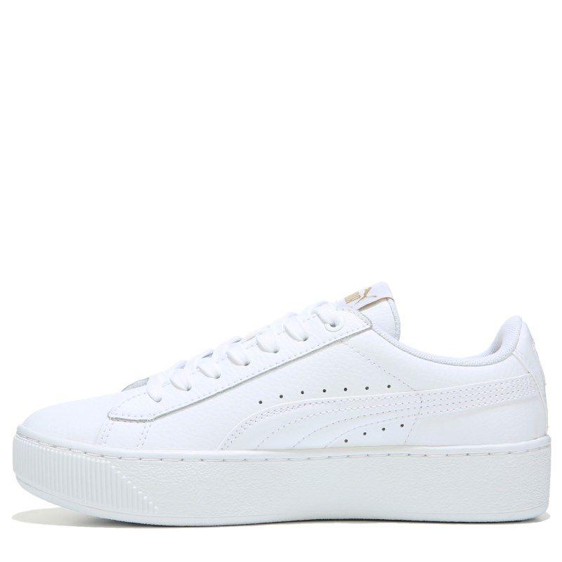 Puma Women s Vikky Platform Sneakers (White White) - 11.0 M 21b70beaf