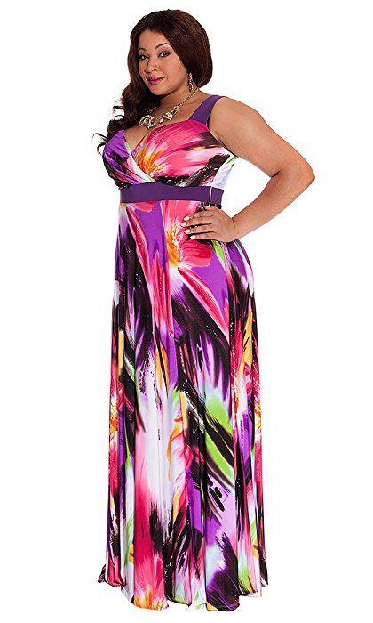 IGIGI Women\'s Plus Size Tropical Beauty Maxi Dress 22/24 ...