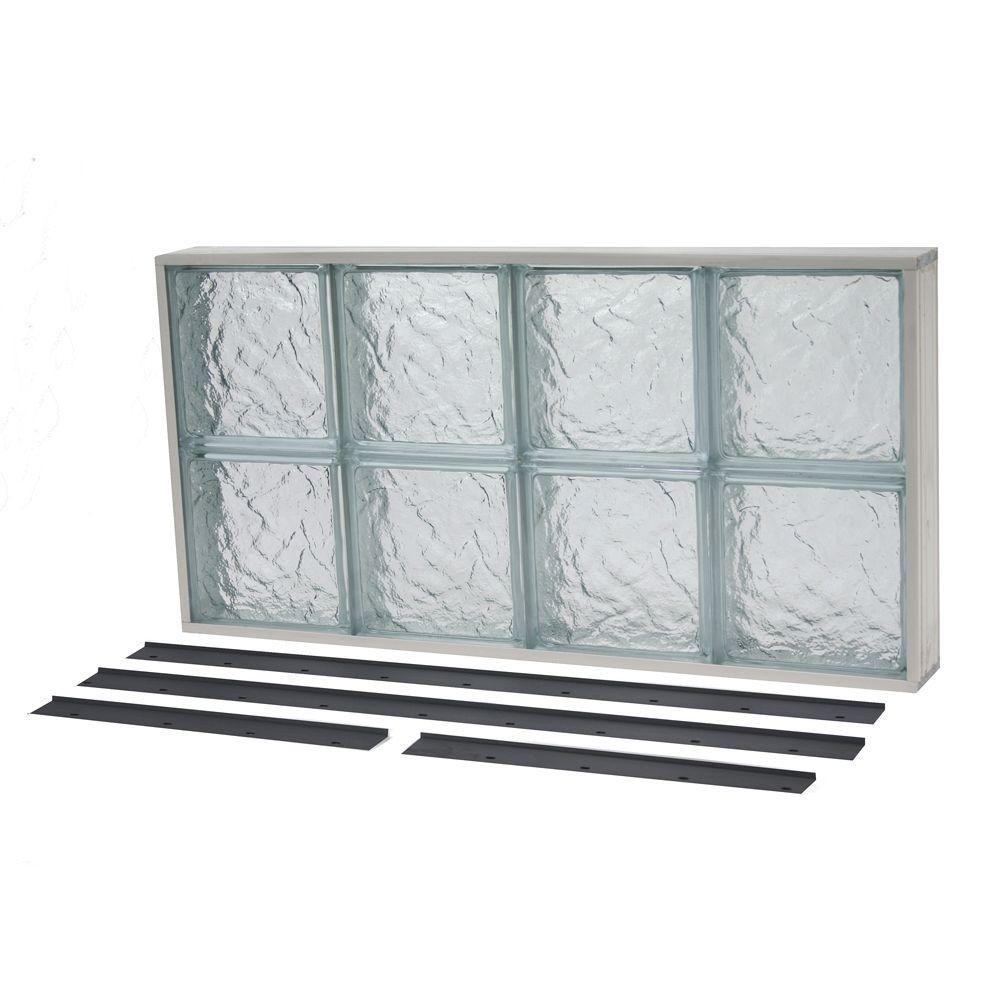Tafco Windows 31 625 In X 15 625 In Nailup2 Ice Pattern Solid Glass Block Window Nu2 3216is Glass Block Windows Glass Blocks Window In Shower