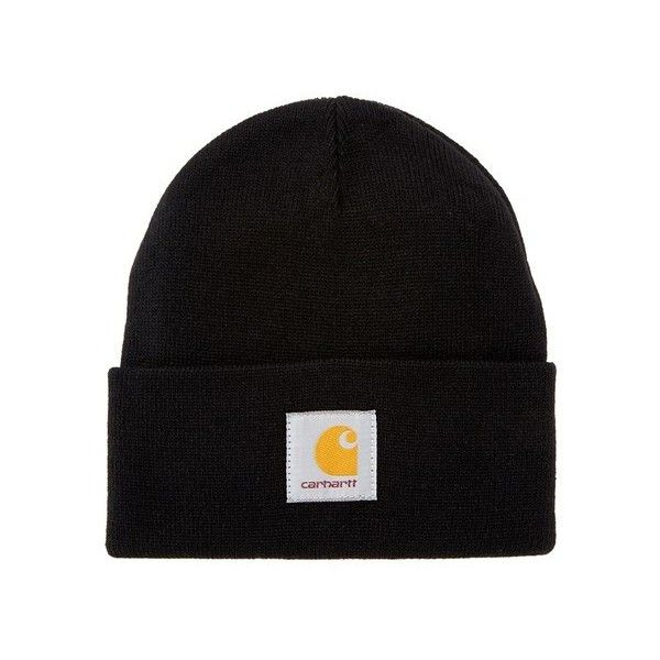 Carhartt Men's 'Short' Watch Hat - Black (3070 RSD) ❤ liked on Polyvore featuring men's fashion, men's accessories, men's hats, mens hats, mens beanie, mens beanie caps and mens ski hats