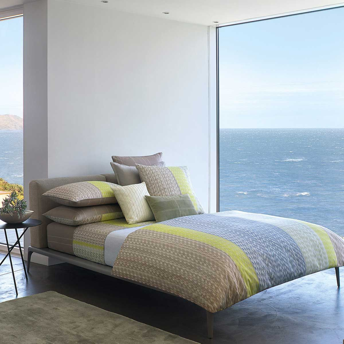 Facet Bedding Brought To Us By Hugo Boss In Smoky Shades Of Grey