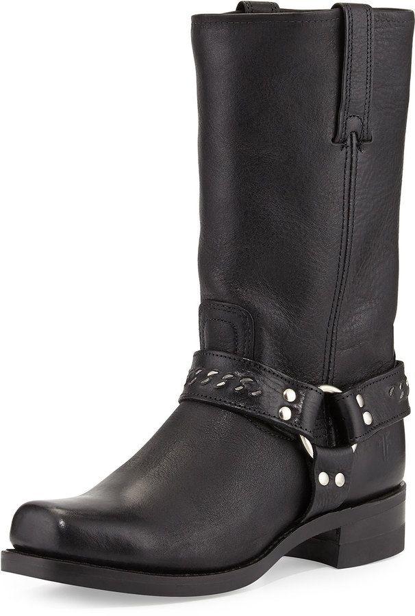 Frye Men's Harness 12R Chain Boot, Black