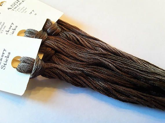 Classic Colorworks, Hickory Sticks, CCT-166, 5 YARD Skein, Hand Dyed