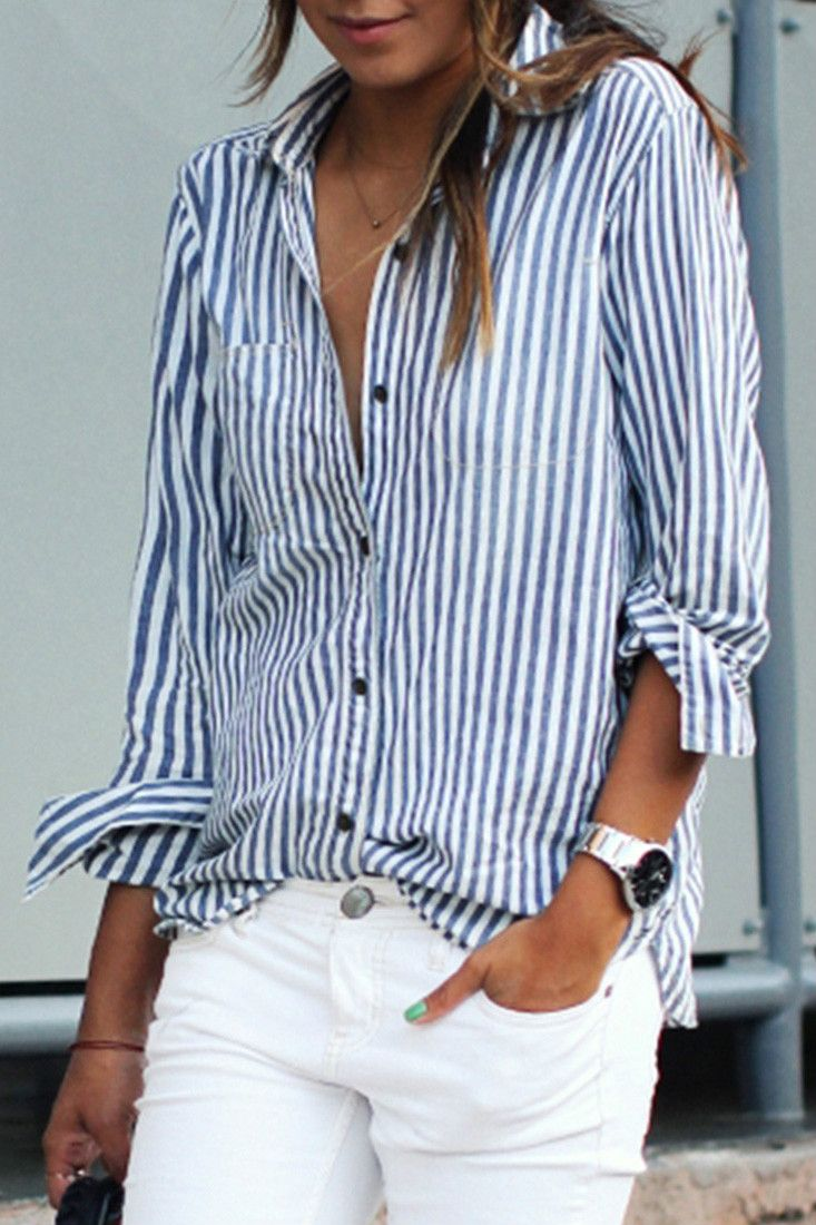 How to vertical a wear striped shirt catalog photo