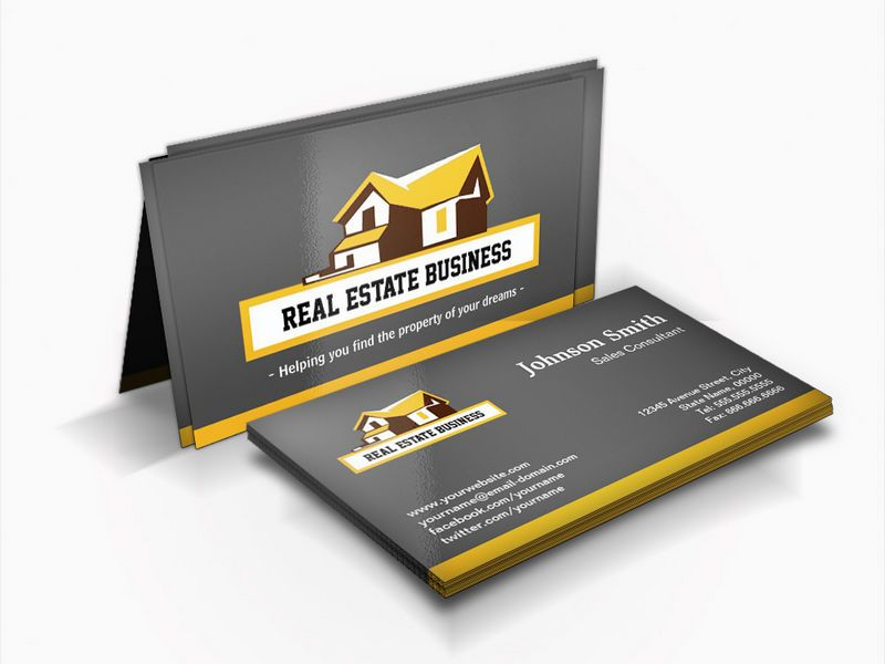 Real Estate Broker Real Estate Agent Modern Styl Business Card Zazzle Com Real Estate Business Cards Yellow Business Card Unique Business Cards