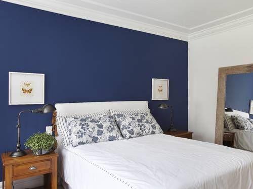 Quarto Casal Azul Marinho E Branco ~ Quartos Azul Escuro no Pinterest