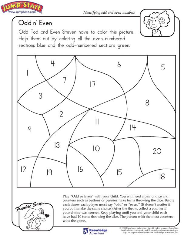 Odd N Even 1st Grade Math Worksheet On Odd And Even Numbers