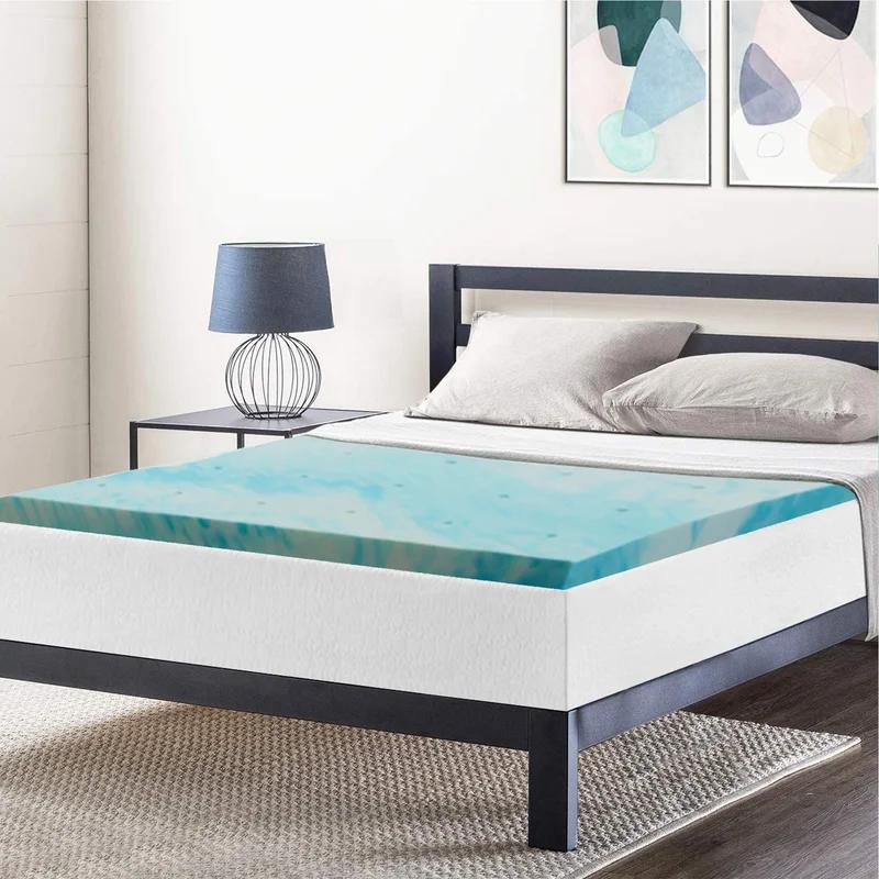 Cool Swirl Gel 2 In Memory Foam Mattress Topper In 2020 Memory Foam Beds Memory Foam Bed Topper Memory Foam Mattress Topper