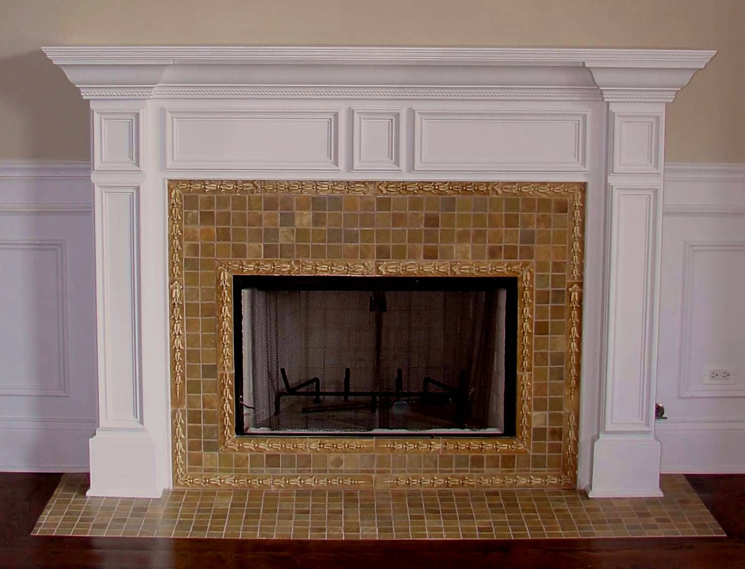 25 most popular fireplace tiles ideas this year you need to know winsome decorating ideas surprising indoor fireplace decoration with brown tile ceramic fireplace design wood floor and white fireplace edge dailygadgetfo Images