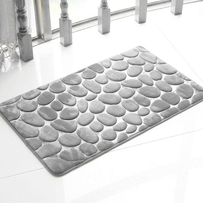 Honana Bx 212 3d Pebbles Bath Rug Natural Absorbent Rubber Bath