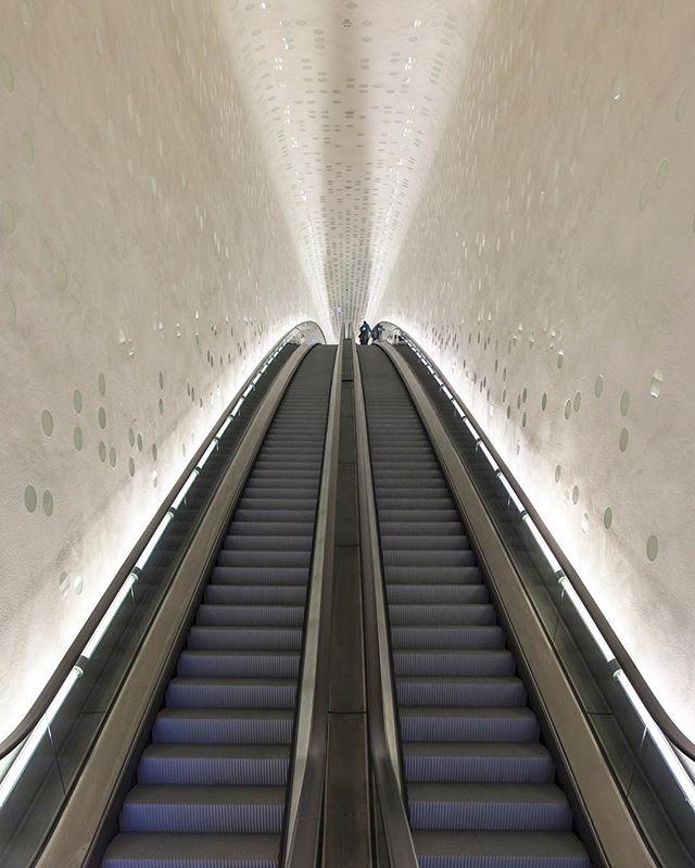 The Elbphilharmony In Hamburg Germany Design By Herzog And De Meuron Elbphilharmonie Concert Hall Concert Hall Escalator
